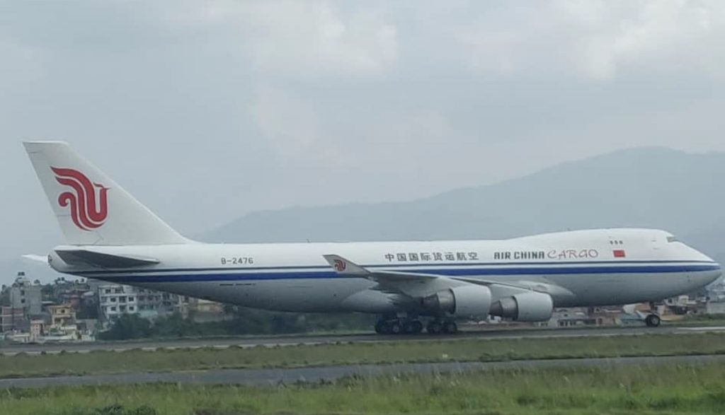 Air China Boeing 747 Cargo at TIA for president Visit - Aviation Nepal