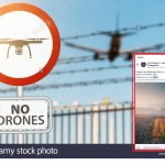 Amateur Photographer recklessly flying drones in airport runway approach